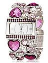 Женские Модные часы Часы-браслет Японский кварц Имитация Алмазный Кварцевый Группа Блестящие Heart Shape Богемные Элегантные часыЗеленый
