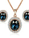 Jewelry-Necklaces / Earrings(Crystal / Gold Plated)Wedding / Party / Daily / Casual Wedding Gifts