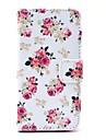 카드 슬롯과 삼성 갤럭시 S4 미니 I9190를위한 대를 가진 로즈 꽃 패턴 PU 가죽 케이스