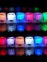 Fete de Noel Mariage lumiere 12pcs Changement de couleur Glacons LED Bar Restaurant