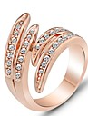 Roman Royal Party Ring Austrian Crystals 18K Yellow Gold Filled Exaggerated Ring