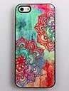 아이폰 4/4S를위한 다채로운 아름다운 꽃 패턴 알루미늄 하드 케이스