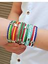 europeen 25cm du monde de football en cuir multicolore bracelet hommes (1,2,3,4,5,6) (1 pc) bijoux