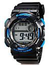 아동 스포츠 시계 캐쥬얼 시계 손목 시계 LED 석영 실리콘 밴드 캐쥬얼 블랙