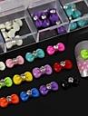 100pcs melange papillon de resine de couleur avec des accessoires en strass pas inclus boite 3d nail art decoration
