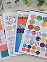 tiritando raya del punto bricolaje pegatinas scrapbooking (4 piezas)