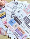 ταχυδρομική σφραγίδα λέξη scrapbooking διακοσμήσετε αυτοκόλλητα (6τεμ)
