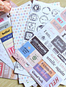 matasellos palabra scrapbooking decorar stickers (6pcs)