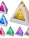 코웨이 7 피라미드를 색상 변경 디지털 알람 시계 달력 온도계 야간 모양의 주도
