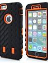 아이폰 3IN1 로봇 타이어 곡물 패턴 실리콘 커버 6S / 6 플러스 (모듬 색상)