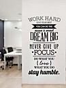Words & Quotes Romance Still Life Fashion Abstract Fantasy Wall Stickers Plane Wall Stickers Decorative Wall Stickers,Vinyl Material
