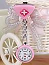 Femme Montre Tendance Lapel Montre Quartz Alliage Bande Heart Shape Bonbon Argent Blanc Violet Rouge Bleu Rose