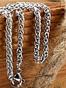 4.0mm*55cm  European Titanium Steel Chain Necklace(Silver) (1 Pc) Jewelry Christmas Gifts