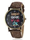 padrão Inglês rodada das mulheres discar pu relógio banda de pulso de quartzo (cores sortidas)