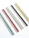 multicolor 40 pinos pin headers passo 2,54 milimetros (10 unid)