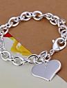 Femme Charmes pour Bracelets Amour bijoux de fantaisie Plaque argent Amour Bijoux Pour Mariage Soiree Quotidien Decontracte Regalos de