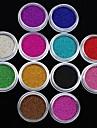 12Pcs Colors Caviar Nail Art Decoration