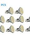 3w gu10 led spotlight 60 smd 3528 300-350 lm теплый белый / холодный белый ac 220-240 v 10 шт.