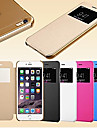 For iPhone 6 Case / iPhone 6 Plus Case with Windows / Flip Case Full Body Case Solid Color Hard PU LeatheriPhone 6s Plus/6 Plus / iPhone