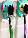 bois mignon animal de bande dessinée porte-brosse à dents ventouse salle de bain fixe crochets