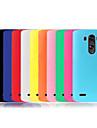 Pour Coque LG Antichoc Coque Coque Arriere Coque Couleur Pleine Flexible Silicone pour LG LG G3