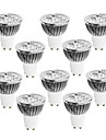 GU10 Lampadas de Foco de LED 4 LED de Alta Potencia 400-450 lm Branco Quente Branco Frio Branco Natural Regulavel AC 220-240 V 10 pcs