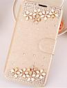 Pour iPhone X iPhone 8 iPhone 6 Etuis coque Strass Avec Support Clapet Coque Integrale Coque Couleur unie Dur Cuir PU pour Apple iPhone X