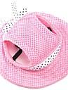 Gato Cachorro Bandanas e Chapeus Roupas para Caes Ferias Fashion Solido Vermelho Azul Rosa claro Listra Branco/Rosa