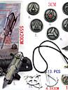 Joias / Cracha Inspirado por Assassin\'s Creed Ezio Anime/Games Acessorios de Cosplay Colares / Manopla / Cracha / Broche Preto Liga / PVC