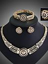 Women\'s Jewelry Set Stud Earrings Bracelet Ring Fashion Statement Jewelry Vintage Festival/Holiday Costume Jewelry Austria Crystal Jewelry