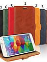 Для Кейс для  Samsung Galaxy Бумажник для карт / Кошелек / со стендом / Флип Кейс для Чехол Кейс для Один цвет Натуральная кожа Samsung S5