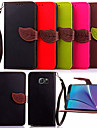 Para Samsung Galaxy Note Porta-Cartao / Carteira / Com Suporte / Flip Capinha Corpo Inteiro Capinha Cor Unica Couro PU SamsungNote 5 /