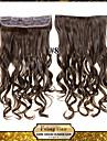 клип в / на фигурных светло-коричневых синтетических наращивания волос