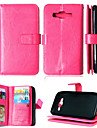 For Samsung Galaxy Case Card Holder / Wallet / with Stand / Flip Case Full Body Case Solid Color PU Leather Samsung J5 / J1 / Grand Prime