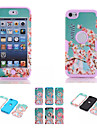 Cherry Blossom Pattern High Quality Snap-on PC + Silicone Hybrid Combo Armor Case Cover for iPod touch 6