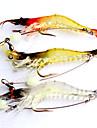 3pcs Fishing Lures 95mm/6.4g Luminous Shrimp Soft Bait with Hook Random Color