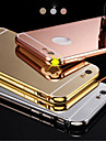 New Luxury Plated Aluminum Metal Frame+Mirror Acrylic Back Cover Shell Case for IPhone6plus 5.5inch