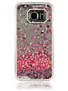 Pour Samsung Galaxy Coque Liquide Coque Coque Arriere Coque Coeur Polycarbonate pour Samsung S6 edge S6 S5 S4