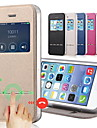 Solid Color PU Leather+Tpu Smart Sliding Answer View Window Flip Case for iPhone 7 7 Plus 6s 6 Plus SE 5s 5