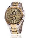 Xu™ Men\'s Wrist watch Quartz Leather Band Black White Gold
