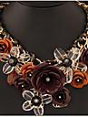 Жен. Ожерелья с подвесками Заявление ожерелья В форме цветка Бижутерия Драгоценный камень Сплав Pоскошные ювелирные изделия переплетенный
