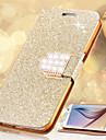 Для Бумажник для карт / Стразы / со стендом / Флип Кейс для Чехол Кейс для Сияние и блеск Твердый Искусственная кожа SamsungS6 edge plus