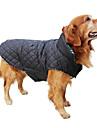 개 코트 조끼 레드 그린 브라운 베이지 강아지 의류 겨울 모든계절/가을 격자 무늬 / 체크 따뜻함 유지 양면 가능