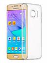 Para Samsung Galaxy S7 Edge Transparente Capinha Capa Traseira Capinha Cor Unica TPU Samsung S7 edge / S7