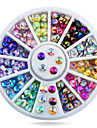 1wheel Sharp End Colorful Rhinestones 3d Nail Art Decorations