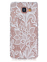 For Samsung Galaxy Case Transparent / Pattern Case Back Cover Case Flower TPU Samsung A5(2016) / A3(2016)