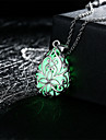 Women\'s Pendant Necklaces Flower Drop Alloy Carved Illuminated Costume Jewelry Jewelry For Wedding Party Daily Casual Sports