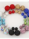 Feminino Brincos Curtos Dupla Face Personalizado Europeu bijuterias Strass Imitacoes de Diamante Liga Joias Para