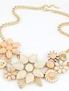 Жен. Заявление ожерелья В форме цветка Сплав бижутерия Мода европейский Elegant Свадьба Бижутерия Назначение Свадьба Для вечеринок Особые
