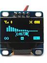 """0.96 """"polegadas amarelo e azul i2c CII serie OLED 128x64 oled lcd levou modulo para exibicao arduino 51 msp420 stim32 scr"""